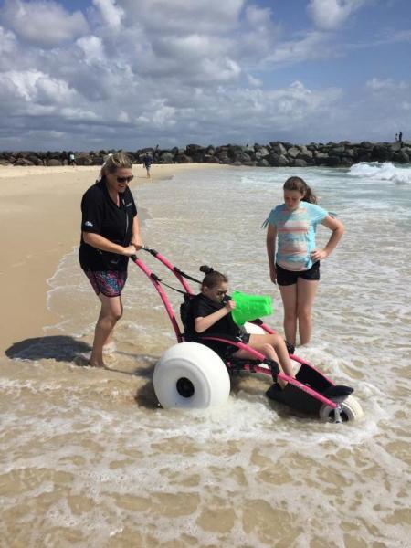 Natasha Hardy making the best of her holidays at Coolangatta. Gold Coast. AU