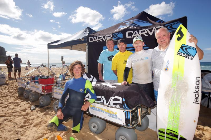 Garie Boardriders (NSW) showing how easy they now transport their contest equipment through the soft sand… with 4x BWA Wagons!!