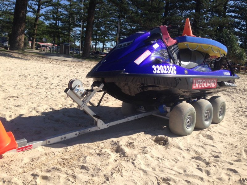 Warringah Lifeguard Service using the Dolly 36 with the optional Hitch Kit