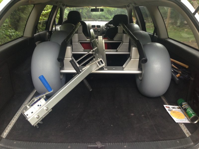 The WZ1-D36 will fit easily fit in the family station wagon!! (requiring the draw bar unclipped only).