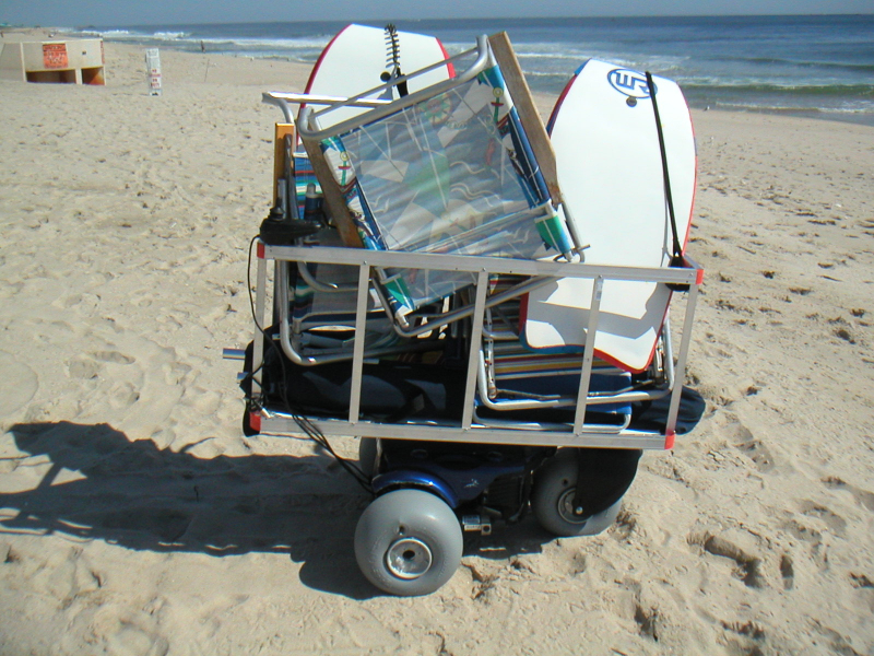 Haul anything at the beach