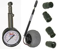 Low Pressure Tyre Gauge, Pump, and Valve Caps (WZ1-TK-SET)