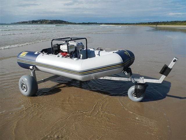 Small Boat Wheels : Boat dolly third wheel kit beachwheels australia