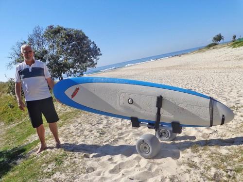 Motorized Surfboard Carrier